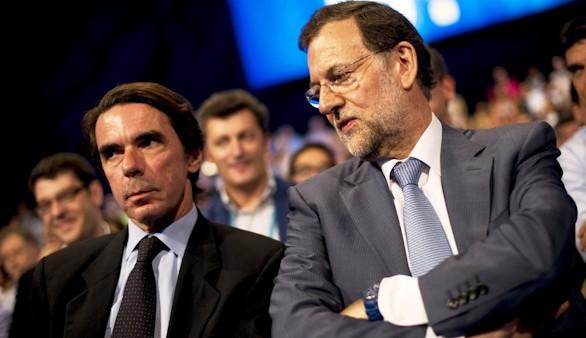 Mariano Rajoy contesta al ataque de José María Aznar sobre el déficit
