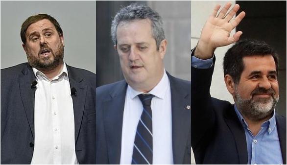 Prohíben a Junqueras, Forn y Sànchez asistir al Parlament