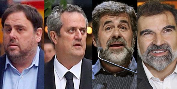 El juez mantiene en prisión a Junqueras, Forn y 'los Jordis'
