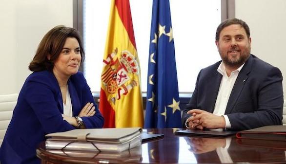 Sáenz de Santamaría se reúne este jueves con Oriol Junqueras