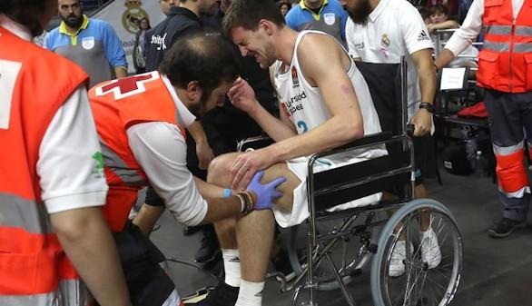 Malas noticias para el Real Madrid de baloncesto: Kuzmic se pierde toda la temporada
