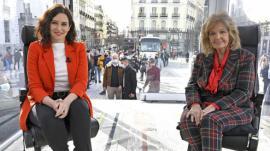 María Teresa Campos entrevistó a Isabel Díaz Ayuso en el primer programa de 'La Campos móvil'.