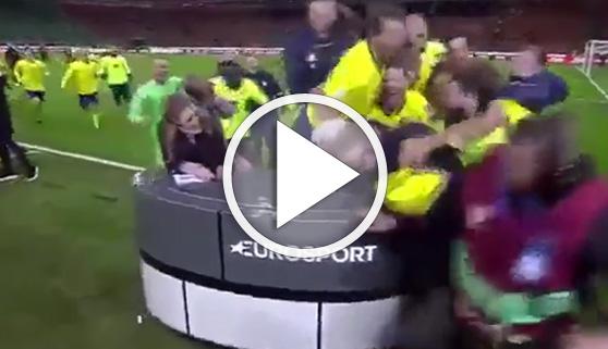 Vídeos virales. La selección sueca también arrasó a los periodistas