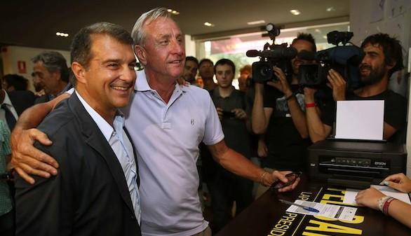 Cruyff pide el voto para Laporta porque