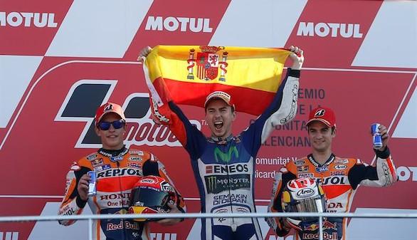Estocada final de Lorenzo a Rossi para conquistar el Mundial