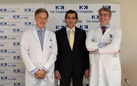 Los doctores Obeso, Abarca Cidón y Ruiz de Aguiar