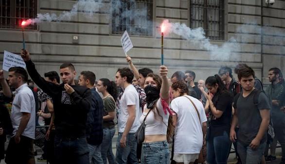Una manifestación neonazi y otra antifascista recorren Madrid sin incidentes