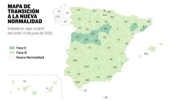 Toda España, sin importar la fase en la que esté, entrará en la nueva normalidad el 21 de junio