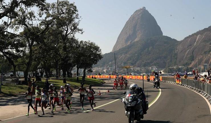 Azucena Díaz fue la única española que terminó el maratón olímpico