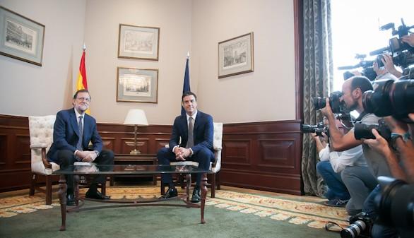 Sánchez cree que su reunión con Rajoy ha sido prescindible