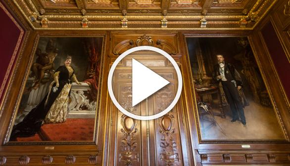 Dos retratos de los marqueses de Linares vuelven a palacio