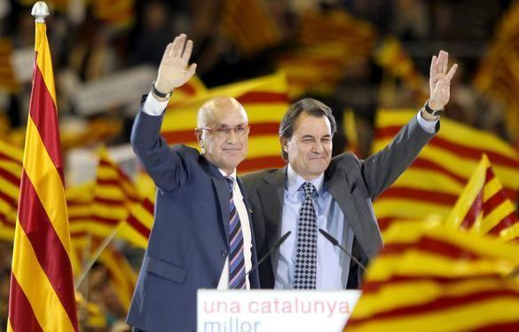 Duran i Lleida y Artur Mas, en un mitin. Efe