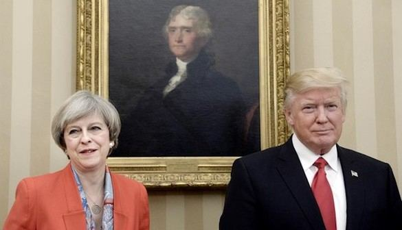 Donald Trump y Theresa May afianzan su