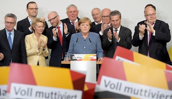 Merkel (CDU) declara que 'hubiera deseado un resultado mejor'