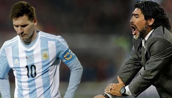 Maradona, contra Messi: