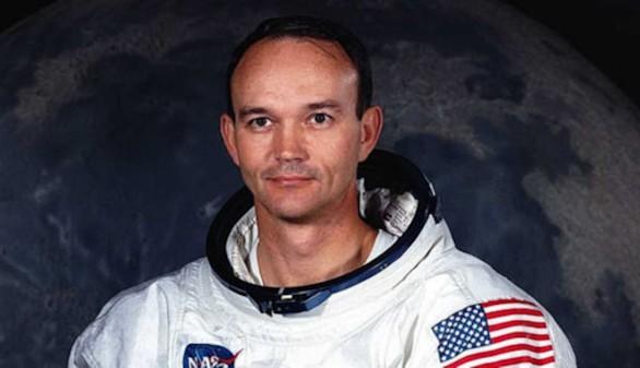 El astronauta Michael Collins, uno de los tres que viajó en el histórico vuelo del Apolo 11, la primera misión de aterrizaje lunar en 1969.