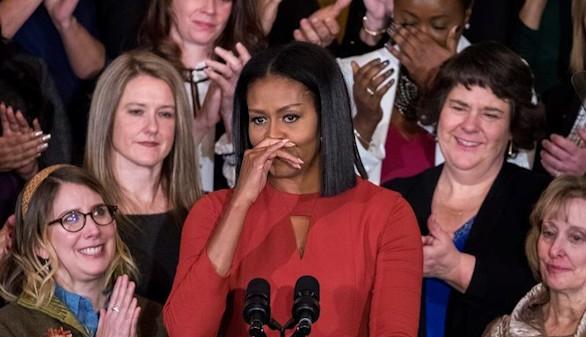 Emotiva última intervención pública de Michelle Obama en la Casa Blanca