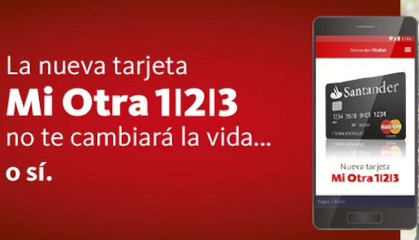 Santander lanza 39 mi otra 1 2 3 39 una nueva tarjeta for Cajeros santander cerca de mi