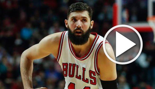 NBA. Un compañero de los Bulls le parte la cara a Mirotic de un puñetazo
