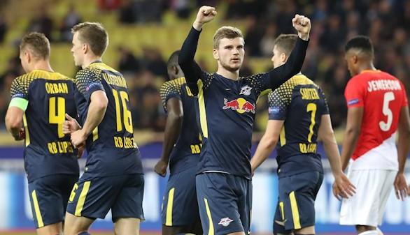 El Leipzig se aprovecha de los errores del Mónaco para mantener la esperanza |1-4