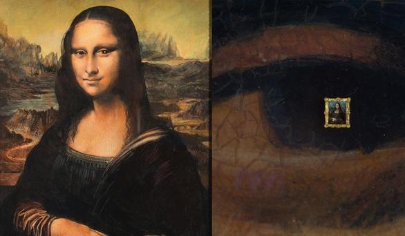 A subasta una falsa Mona Lisa con una réplica microscópica en el ojo