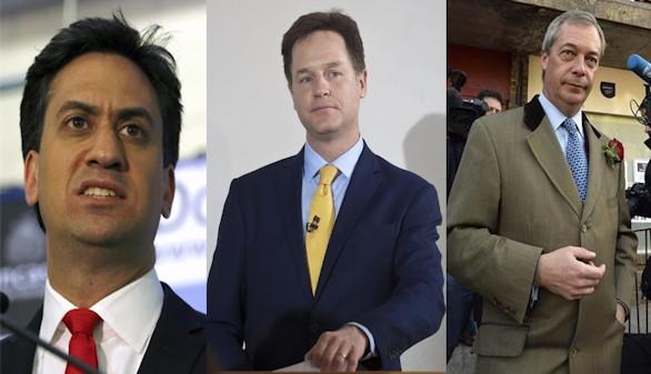 Miliband, Clegg y Farage dimiten tras los resultados electorales