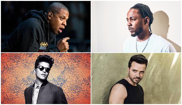 Jay-Z, Kendrick Lamar y Bruno Mars se postulan como favoritos para los Grammy's