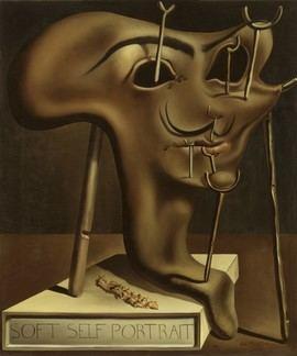 Autorretrato blando con bacon frito, 1941. Óleo sobre tela