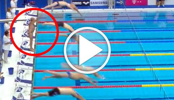 Vídeos virales. El nadador que emocionó con su minuto de silencio