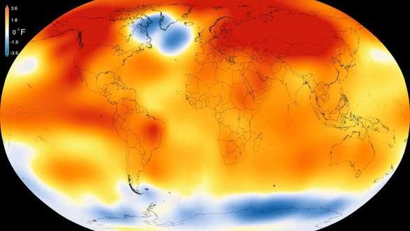 La temperatura de la Tierra en 2015 fue la más alta en 136 años