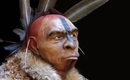 Reconstrucción de neandertal realizada por Fabio Fogliazza / Museo de la Evolución Humana (Burgos). Junta de Castilla y León.