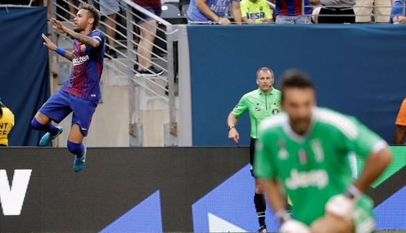 Un doblete de Neymar da el triunfo al Barcelona frente a la Juventus |1-2