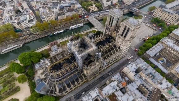 Notre Dame, a vista de pájaro tras el incendio