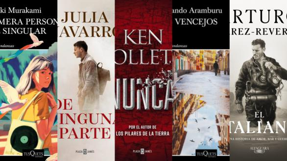 Lo nuevo de Follet, Auster, Murakami y Pérez-Reverte, entre las novedades del otoño