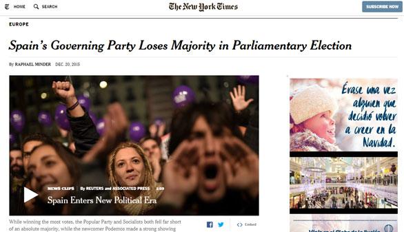 Prensa internacional. El mundo mira a España con preocupación