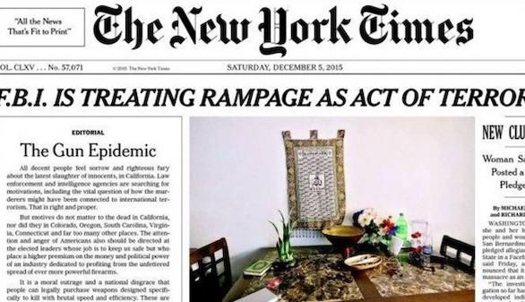 New York Times lleva su editorial a portada por primera vez desde 1920