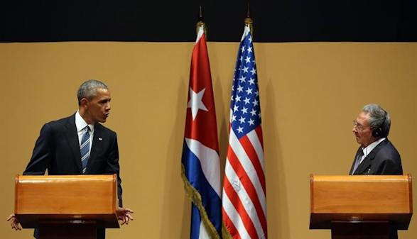 Obama y Castro evidencian la