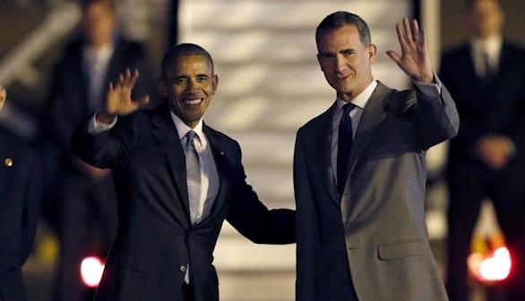 Viaje histórico de Obama a España