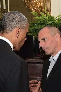 Varoufakis se encuentra con Obama en su visita a Washington