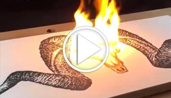Vídeos virales. Las obras de este artista sí que echan fuego