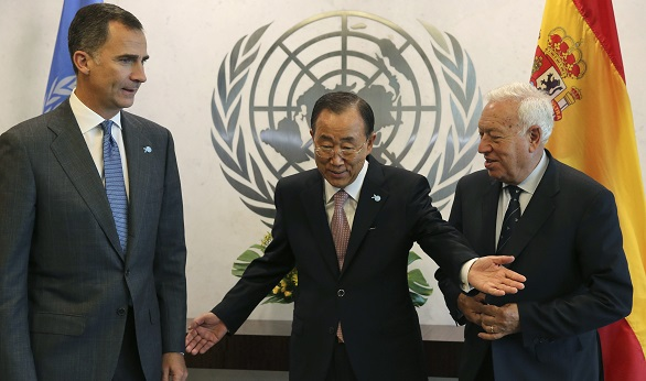 Ban Ki-moon valora ante Felipe VI el papel de España en el Consejo de Seguridad