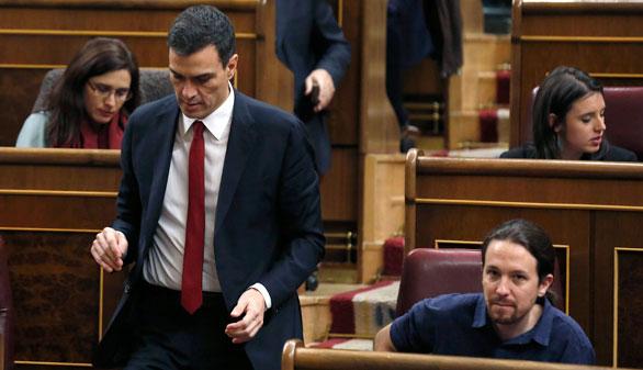 El PSOE y Podemos, a garrotazos