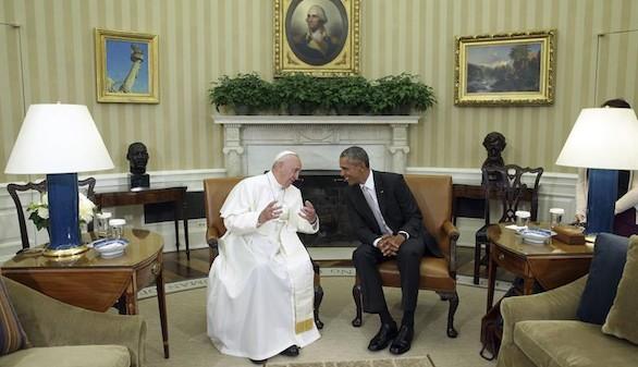 El Papa Francisco en la Casa Blanca: 'Soy un hijo de familia de inmigrantes'