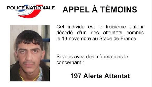 Francia difunde la foto del tercer suicida del estadio en busca de pistas