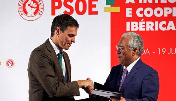 Pedro Sánchez se va a Lisboa para aprender del frente popular portugués