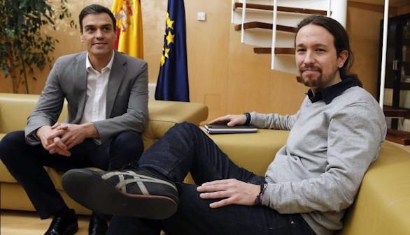 Sánchez e Iglesias acuerdan hablar hoy por teléfono