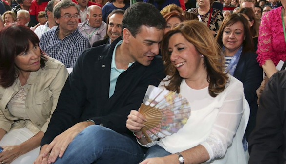 Susana Díaz respalda a Pedro Sánchez: con el PP,