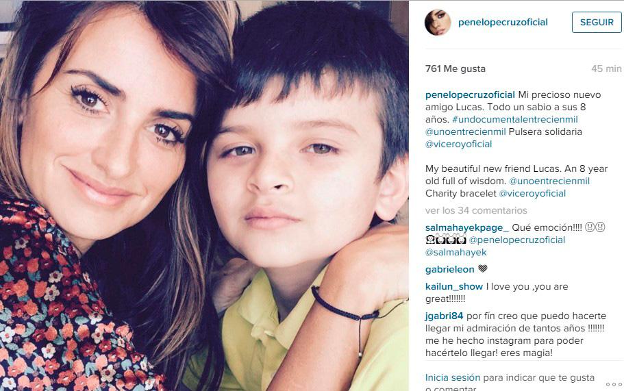 Penélope Cruz estrena cuenta en Instagram