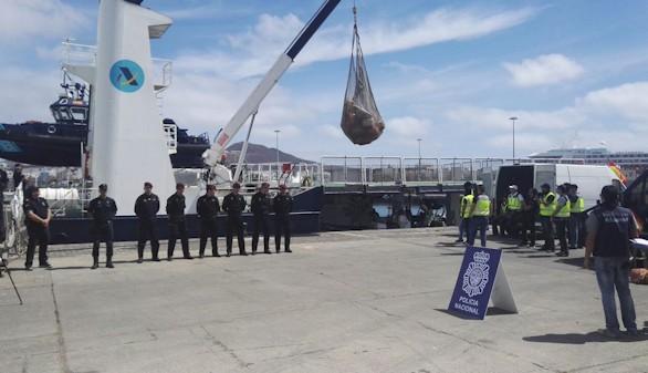 La Policía intercepta dos barcos con ocho toneladas de cocaína