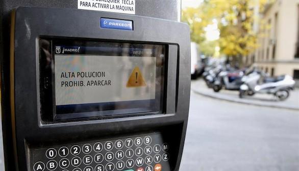 El sábado por la mañana tampoco se podrá aparcar en Madrid